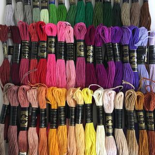 オリンパス(OLYMPUS)のDMC、オリンパス混合刺繍糸50色50本 3(生地/糸)
