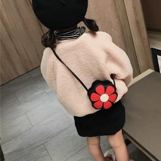 エイチアンドエム(H&M)の新品フラワーショルダーバック赤(ポシェット)