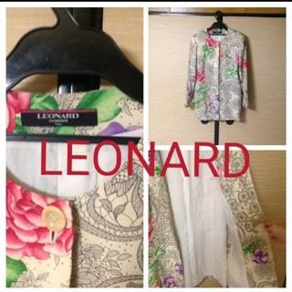 レオナール(LEONARD)のLEONARD レオナール ジャケット 薔薇柄(ノーカラージャケット)