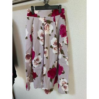 グレイル(GRL)の花柄フレアスカート ピンク(ひざ丈スカート)