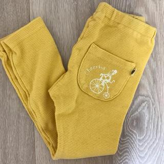 ラーゴム(LAGOM)の美品 ラーゴム LAGOM 100 ストレッチ パンツ 長ズボン 男の子 黄色(パンツ/スパッツ)