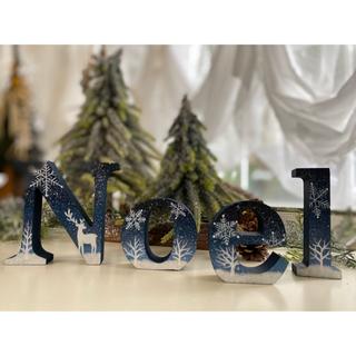 オシャレな クリスマス イニシャルオブジェ【Noel】【北欧】(置物)