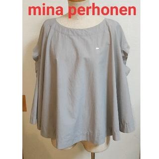 mina perhonen - minaperhonen ミナ ペルホネン フレア ブラウス カットソー トップ