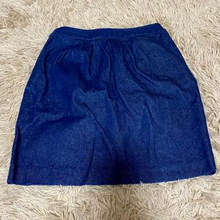 ケービーエフ(KBF)のKBF 台形型 デニム ミニ スカート (ミニスカート)