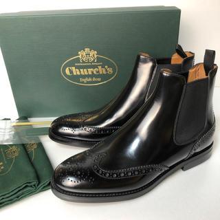 チャーチ(Church's)の新品 36.5 チャーチ KETSBY LADIES サイドゴアブーツ 黒 23(ブーツ)