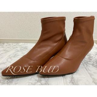 ローズバッド(ROSE BUD)の未使用★ローズバッド ROSE BUD ショートブーツ ヒール 22.5cm(ブーツ)