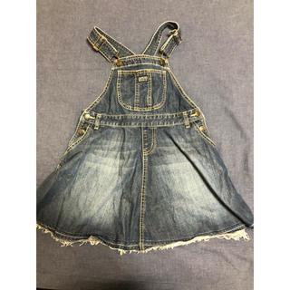 ブリーズ(BREEZE)のbreeze デニム ジャンパースカート  140cm ワッペン 付き フレア(スカート)