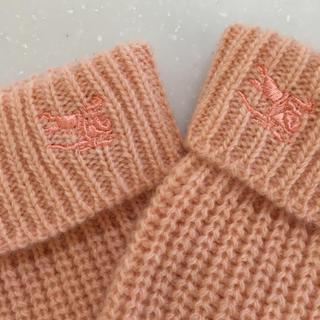 バーバリー(BURBERRY)のBurberry ピンクの手袋(手袋)