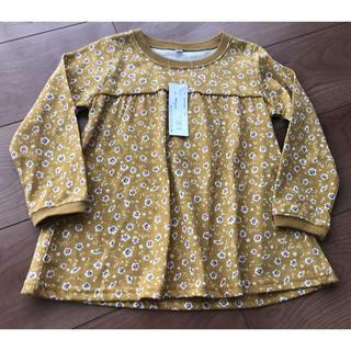 100cmからし色小花柄チュニック(Tシャツ/カットソー)