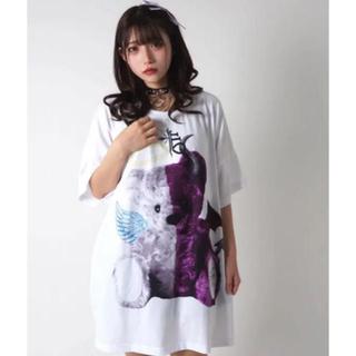 ミルクボーイ(MILKBOY)のTRAVAS TOKYO    天使と悪魔 くま ビッグ Tシャツ ホワイト  (Tシャツ/カットソー(半袖/袖なし))