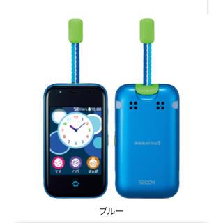 エーユー(au)のmamorino5 未使用品 ブルー 子供 見守り 便利グッズ(携帯電話本体)