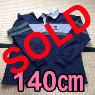ラガーシャツ風 トップス 長袖シャツ 140㎝(Tシャツ/カットソー)