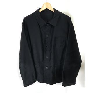 コモリ(COMOLI)のフランス ビンテージ ブラックモールスキン  黒モル ジャケット(カバーオール)