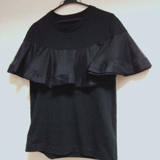ドゥロワー(Drawer)のTulle Tee Black定価¥ 14,300税込(Tシャツ(半袖/袖なし))