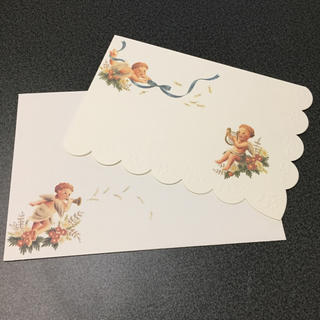 フェリシモ(FELISSIMO)の新品 エンジェル グリーティングカード バースデーカード メッセージカード封筒付(カード/レター/ラッピング)