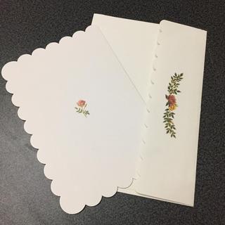 FELISSIMO - 訳あり野ばら グリーティングカード バースデーカード メッセージカード 封筒付き