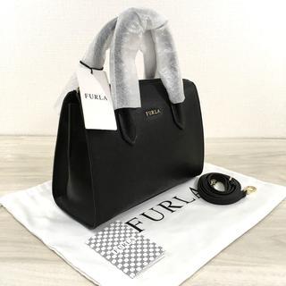 フルラ(Furla)の未使用品 フルラ 2WAYバッグ ブラック レザー ロゴ 330(ショルダーバッグ)