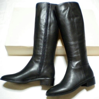 ユナイテッドアローズ(UNITED ARROWS)の新品本革 24.5cm ロングブーツ(ブーツ)