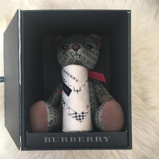 バーバリー(BURBERRY)のバーバリー ロゴテディベア&チェックハンカチセット レア(その他)