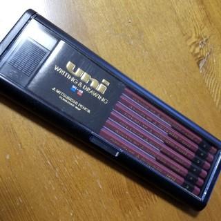 ミツビシエンピツ(三菱鉛筆)の三菱鉛筆uni  1ダース  消しゴムとケース付き(鉛筆)