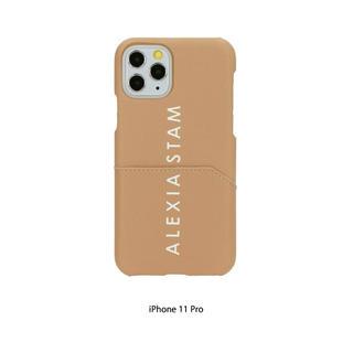 アリシアスタン(ALEXIA STAM)のALEXIA STAM Logo iPhone Case Camel(iPhoneケース)