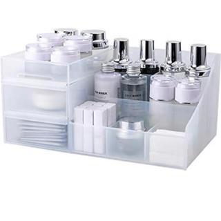 化粧品収納ボックス メイクボックス 小物入れ 卓上収納 (メイクボックス)