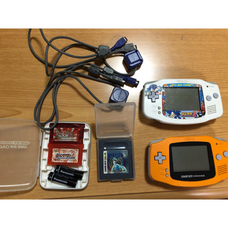 ゲームボーイアドバンス(ゲームボーイアドバンス)のゲームボーイアドバンス本体 ポケモンソフト 攻略本付き 通信ケーブルなど(携帯用ゲーム機本体)