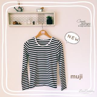 ムジルシリョウヒン(MUJI (無印良品))の新品 無印良品 ボーダーTシャツ(Tシャツ(長袖/七分))