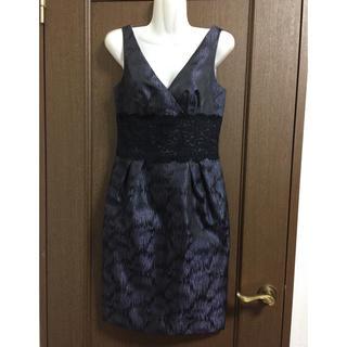 ビーシービージーマックスアズリア(BCBGMAXAZRIA)のマギーロンドン ワンピース ドレス パープル 結婚式 二次会(ミディアムドレス)