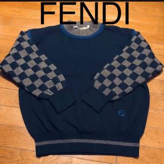 フェンディ(FENDI)のヴィンテージ 正規品FENDI切替ニット(ニット/セーター)