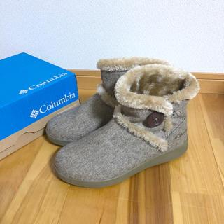 コロンビア(Columbia)の秋冬!コロンビア ムートンブーツ ベージュ キャメル 25cm (ブーツ)