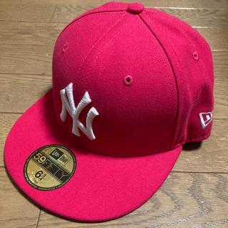 ニューエラー(NEW ERA)の53.9cm【ニューエラ】ピンク(帽子)