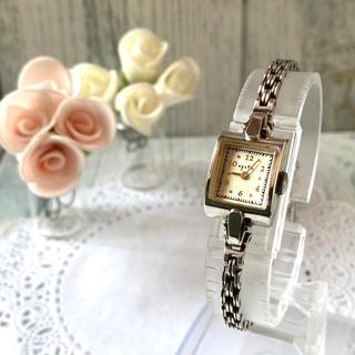 アガット(agete)の【動作OK】agete アガット 腕時計 シルバー スクエア アンティーク調(腕時計)