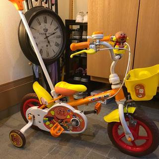 アンパンマン(アンパンマン)のアンパンマン 12インチ 補助輪付 自転車 未使用に近い(自転車)