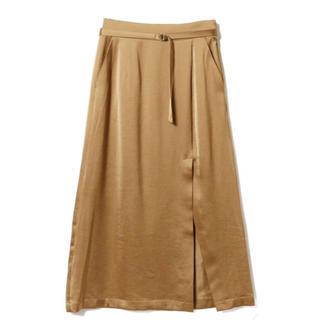 レイビームス(Ray BEAMS)のサテン スリット ロングタイトスカート(ロングスカート)