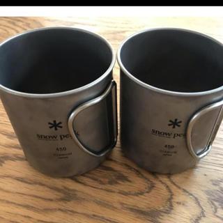 スノーピーク(Snow Peak)のコックロー地様専用 スノーピークチタンカップ3個(食器)