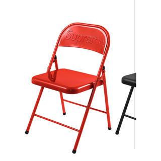 シュプリーム(Supreme)のsupreme パイプ椅子 red (折り畳みイス)