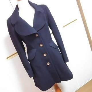 ヴィヴィアンウエストウッド(Vivienne Westwood)の美品 Vivienne Westwood 黒 ウールコート(ロングコート)