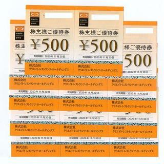 クリエイト・レストランツ 株主優待券 7000円分(クリレス)(レストラン/食事券)