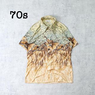 ジャンポールゴルチエ(Jean-Paul GAULTIER)の70s vintage アニマル柄 ナイロンシャツ クレイジーパターン 総柄(シャツ)