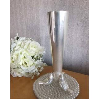 バカラ(Baccarat)のクリストフル シルバー 小鳥さんの一輪挿し(花瓶)