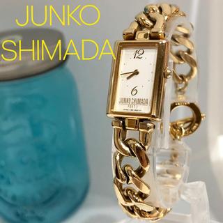 ジュンコシマダ(JUNKO SHIMADA)の34 JUNKO SHIMADA 時計スクエア型 レディース腕時計 新品電池(腕時計)