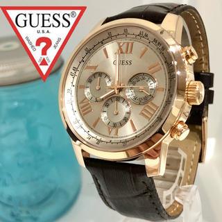 ゲス(GUESS)の60 ゲス時計 メンズ腕時計 新品電池 クロノグラフ(腕時計(アナログ))