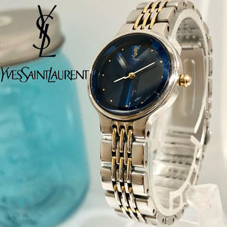 サンローラン(Saint Laurent)の28 イヴサンローラン時計 レディース腕時計 新品電池 カットガラス 人気(腕時計)
