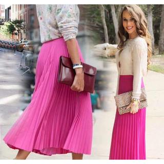 ビーシービージーマックスアズリア(BCBGMAXAZRIA)の❤️BCBG 2020新作 新品 ピンク、イエロー、ロングスカート 綺麗(ロングスカート)