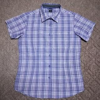 モンベル(mont bell)のモンベル WIC.ライト UVカット 半袖シャツ 女性用M パープル系チェック柄(シャツ/ブラウス(半袖/袖なし))