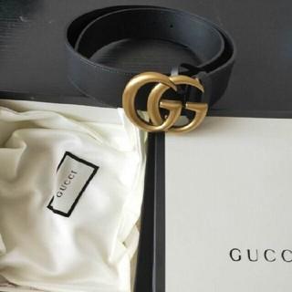 Gucci - GUCCI GGマーモント バッグル ベルト幅 4cm