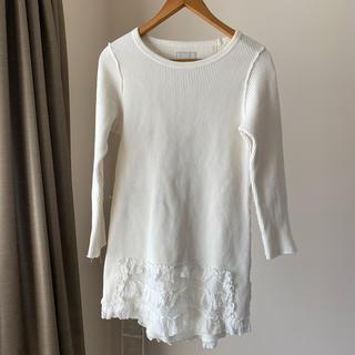 ビームス(BEAMS)のÄ (エイス)白 m 長袖 カットソー Tシャツ おしゃれ(Tシャツ(長袖/七分))