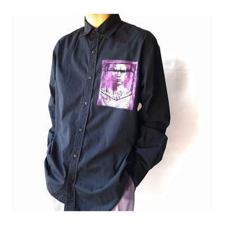 ラフシモンズ(RAF SIMONS)の転写デザイン オーバーシャツ 古着 上質 ラフシモンズ風(シャツ)