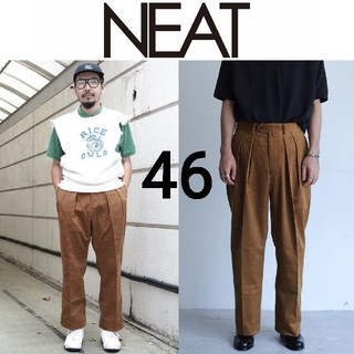新品■20AW NEAT アンティーク コーデュロイパンツ ワイド 46(スラックス)